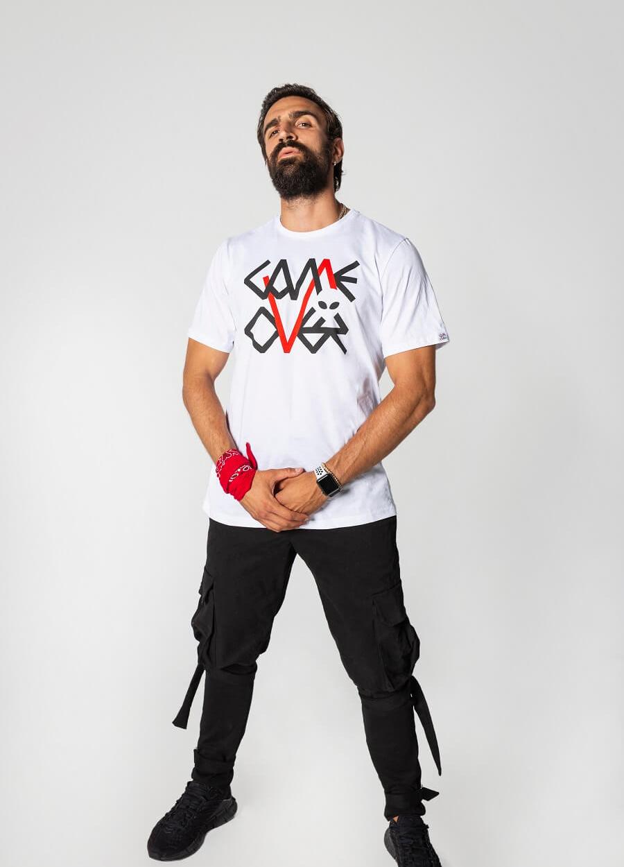 Bela Game Over Logo Majica