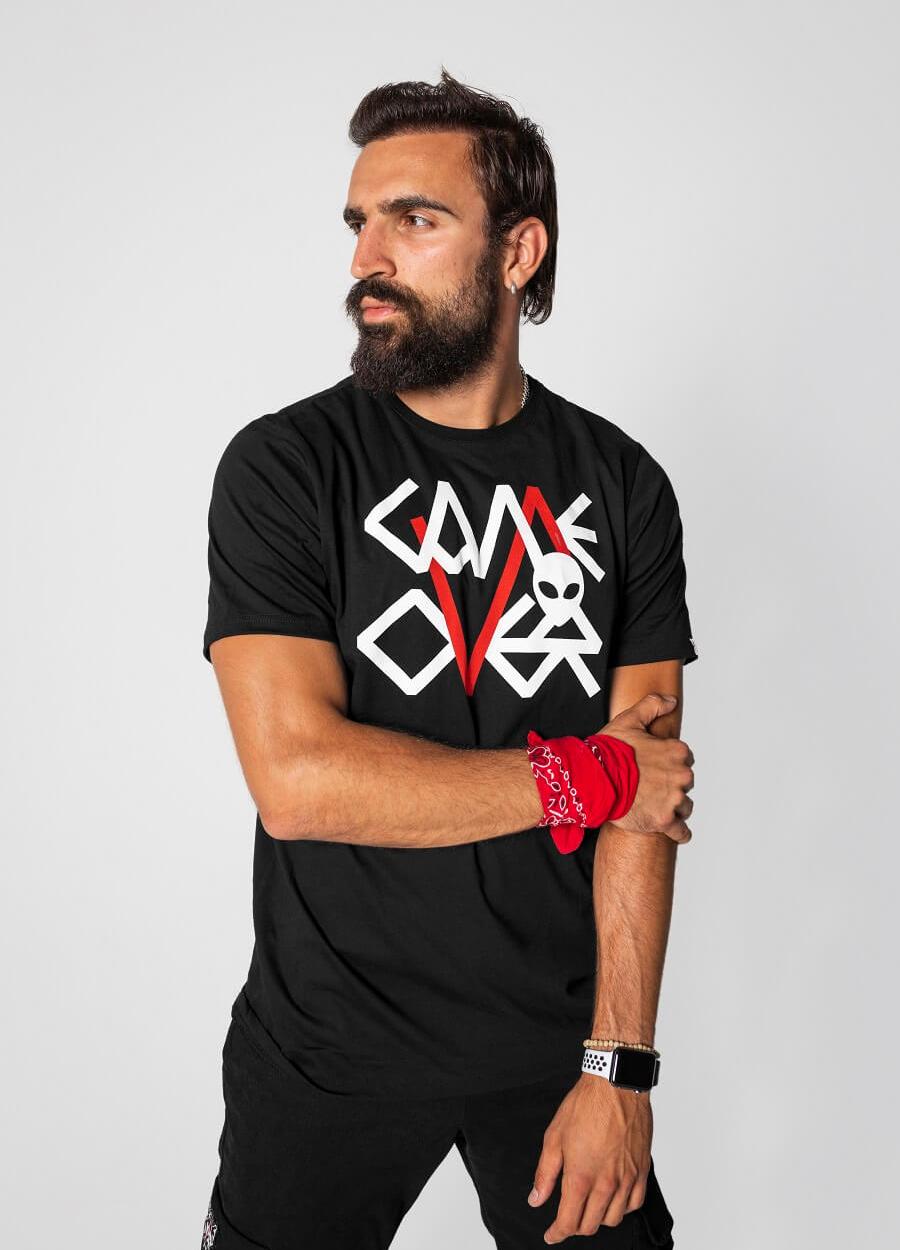 Game Over Crna Logo Majica